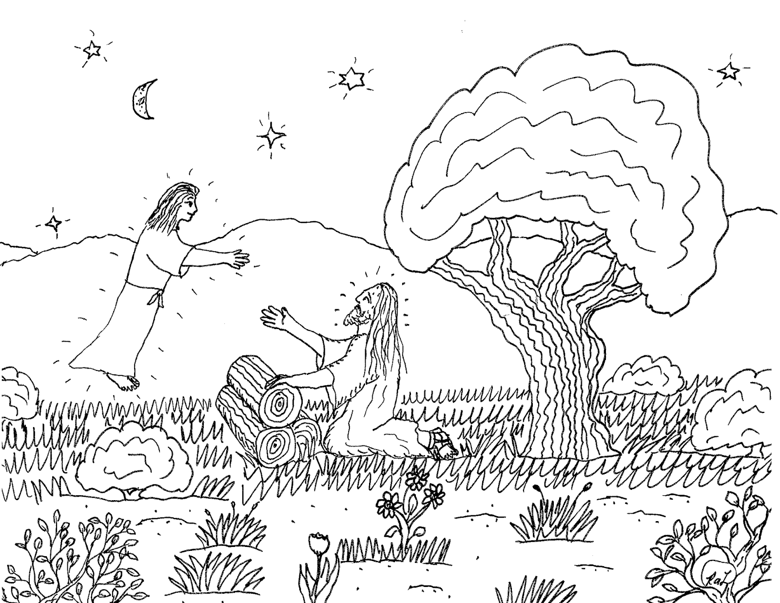 Robins Great Coloring Pages Jesus In Garden Of Gethsemane