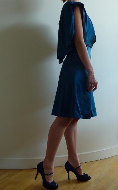 robe de cocktail sur mesure par couturière modéliste Yvelines