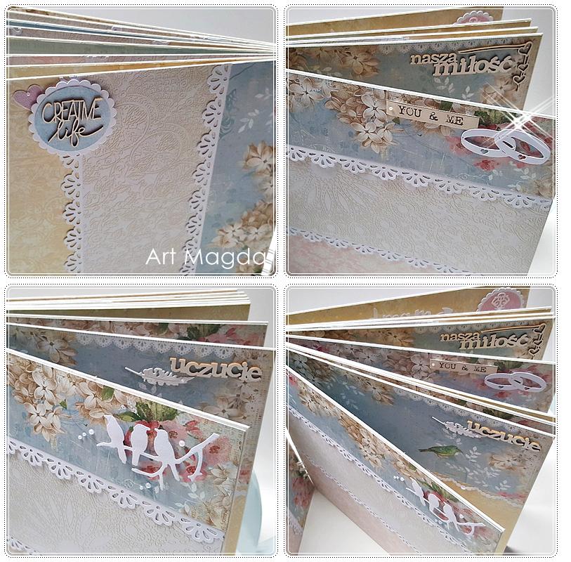 ArtMagda Handmade, album ręcznie robiony, rocznica ślubu, prezent