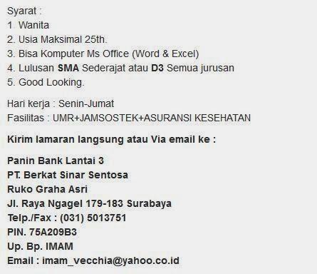 Lowongan Kerja Ntb Januari 2013 Terbaru Informasi Lowongan Kerja Loker Terbaru 2016 2017 Kerja Panin Bank Surabaya Terbaru Januari 2014 Portal Lowongan Kerja