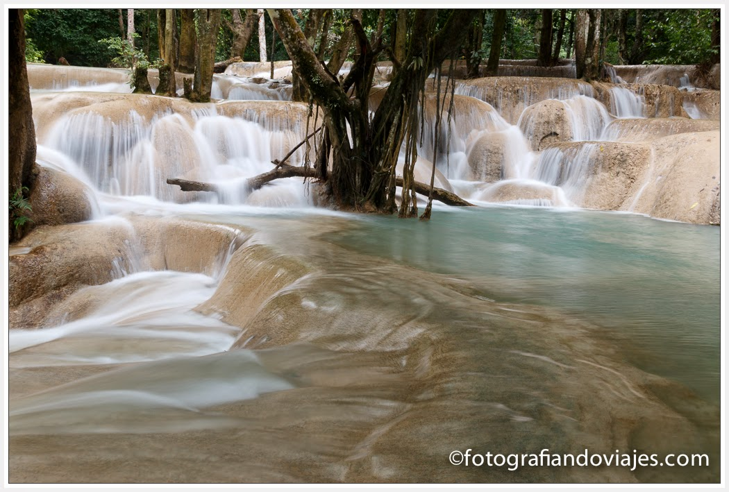 Waterfall Tad Sae near to Luang Prabang in Laos