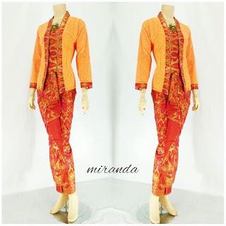 Grosir Rok Blouse Batik Modern Orange
