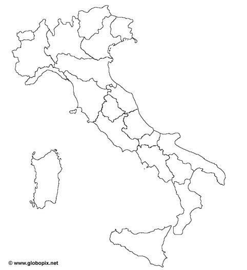 Famoso Cartina Muta Dell'italia Con Le Province XP52