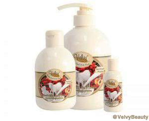 Rahasia kulit putih halus dan sehat dengan Velvy Goat's Milk Shower Cream Rosehip Seed Oil & Peach