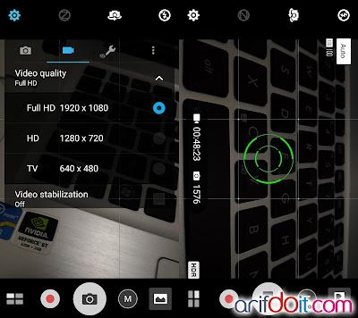Kalkulasi PixelMaster durasi rekam video FHD dan foto 13MP