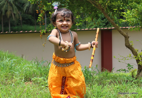 baby krishna dress up