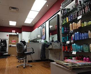 workstation in a hairsalon