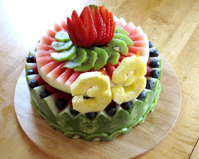 Watermelon Cake Decorated With Berries