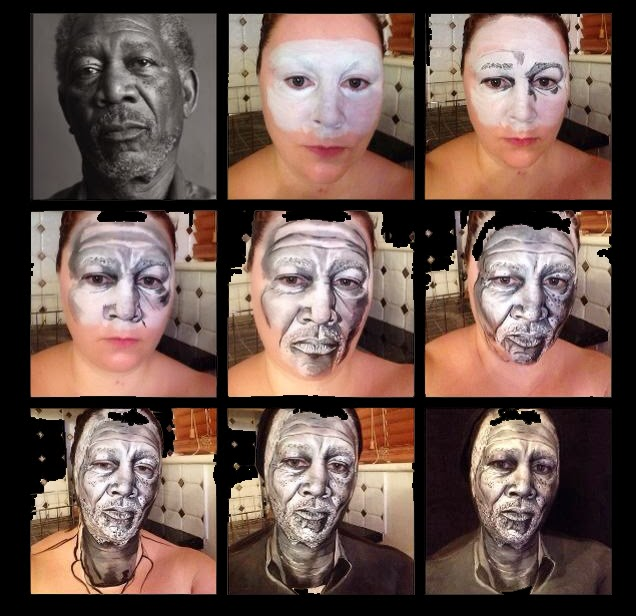 16-Morgan-Freeman-Maria-Malone-Guerbaa-Face-Painting-Artist-Morphs-like-a-Chameleon-Shapeshifter-www-designstack-co