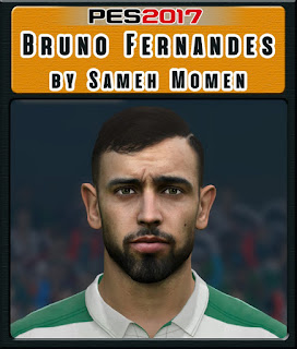 PES 2017 Faces Bruno Fernandes by Sameh Momen