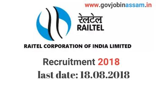 RailTel Corporation Ltd Recruitment 2018,govjobinassam