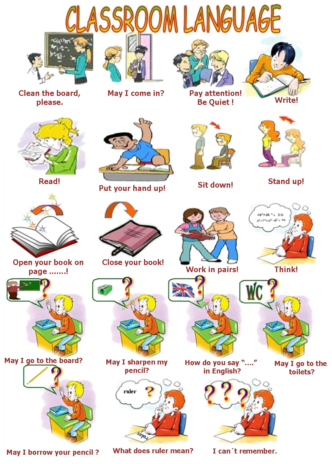 You English Student Classroom English