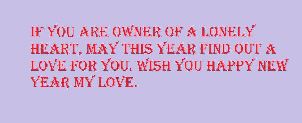 new year messages for lovers