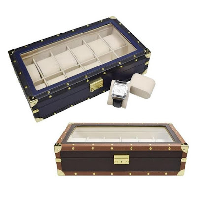 Shop Wholesale Leatherette Watch Storage Box with Lock at NileCorp.com