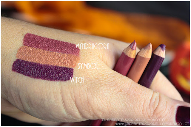 biopastello labbra swatches neogothic collection neve cosmetics