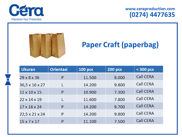 Harga Craft Paper Bag - ceraproduction
