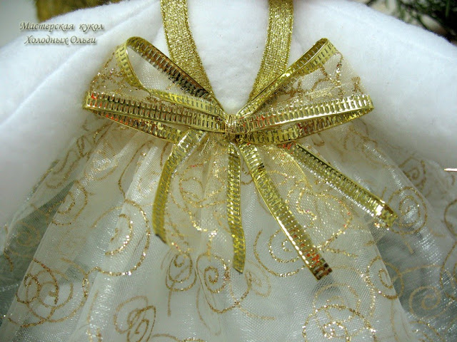 Золотая Снежинка бантик