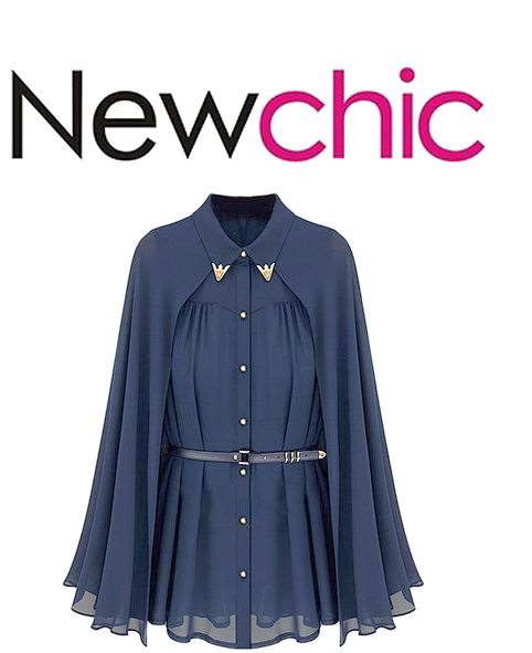 NewChic Cape Blouse