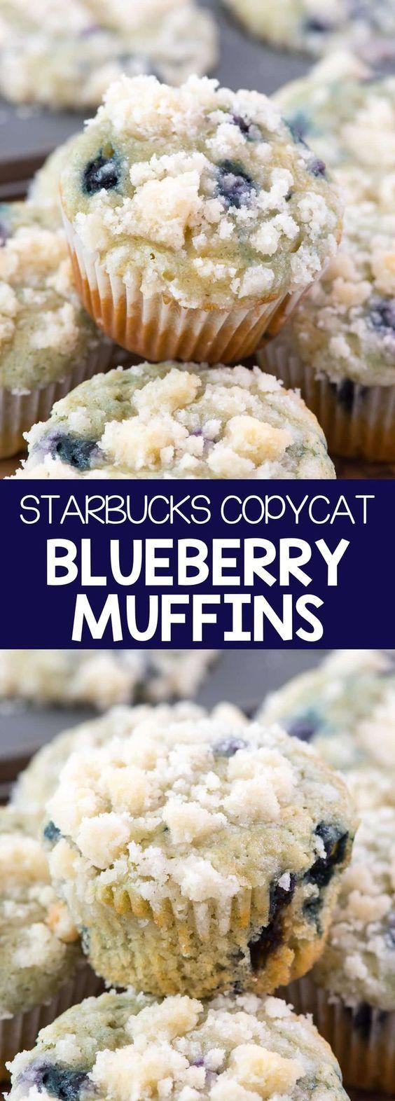 Starbucks Copycat Blueberry Muffins Recipe