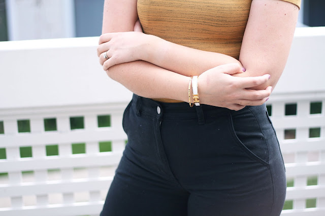 Everlane, american apparel, fashion blogger, wide leg pants, jewellery details