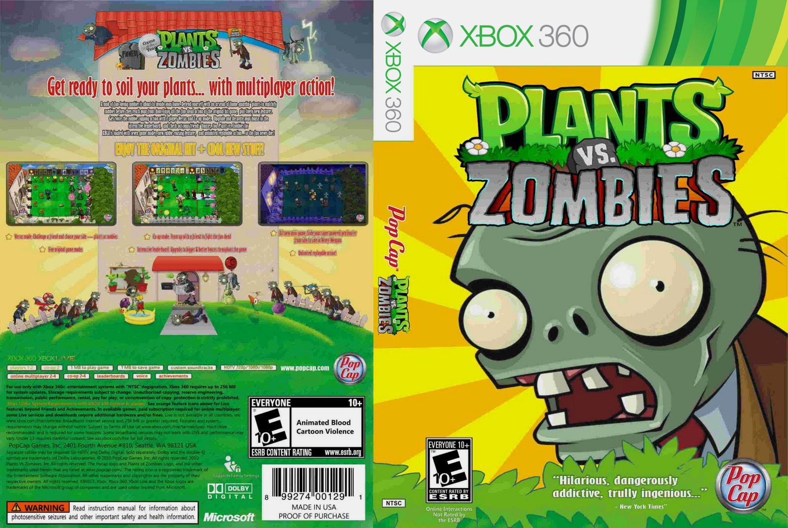 plants vs zombies xbox 360 ultra capas