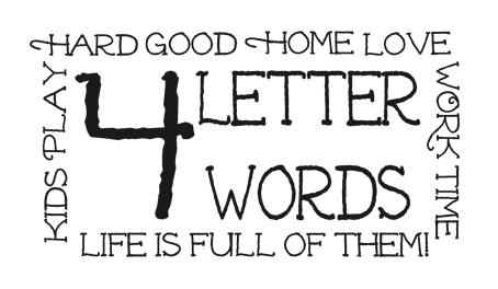 4 Growing Boys 4 letter words wordart freebies