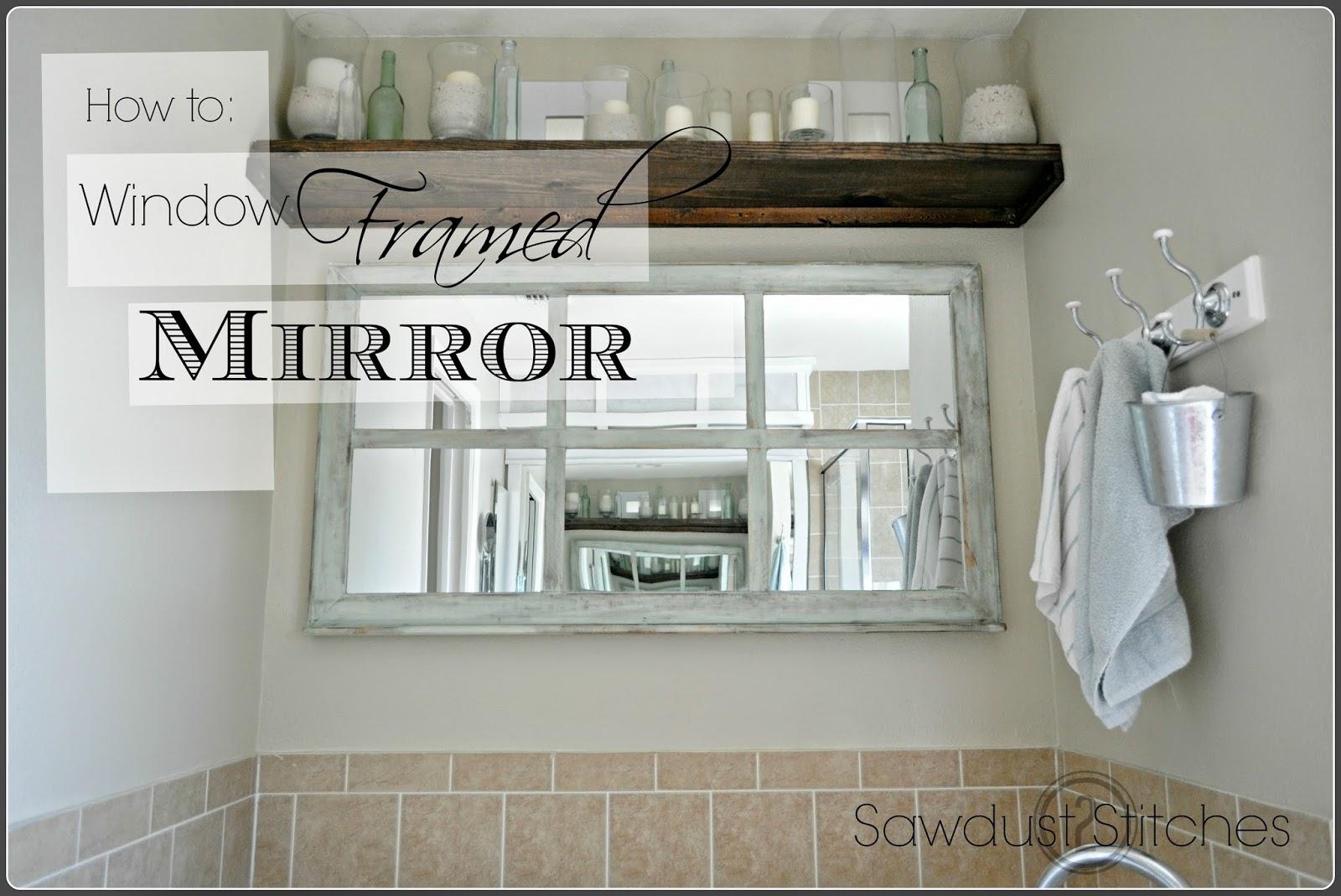 Window Framed Mirror Sawdust 2 Stitches