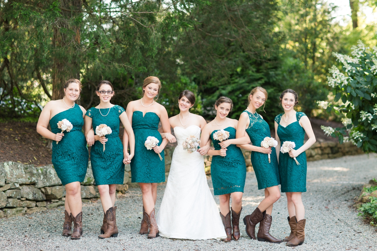 Western Bridesmaid Dress + Cowboy Boots | wedding inspiration