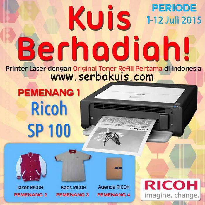 Kuis Online Berhadiah Printer Laser Ricoh SP100 GRATIS!