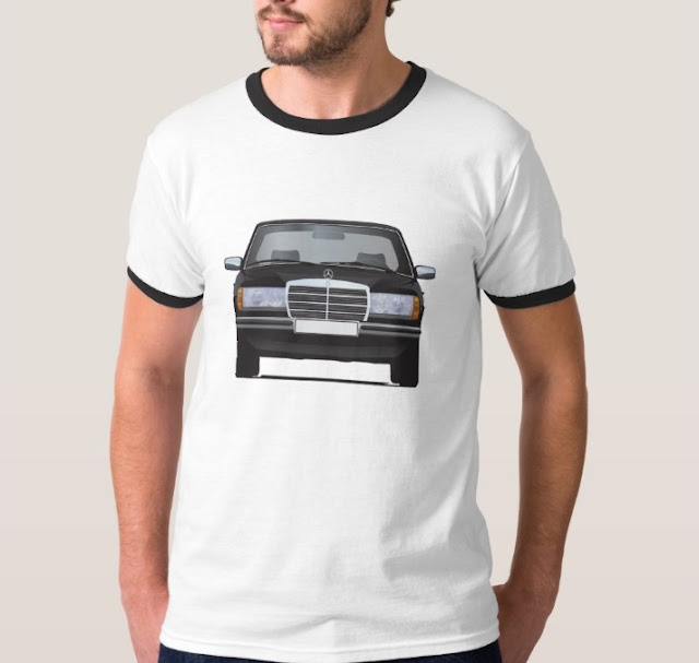 Black MB W123 t-shirts