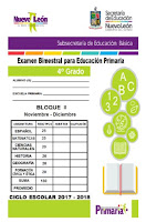 Examenes del Segundo Bimestre de 1° a 6° Primaria 2017