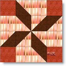 Windmill quilt block © W. Russell, patchworksquare.com