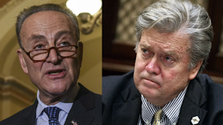 More Democrats are familiar with Stephen Bannon than Charles Schumer