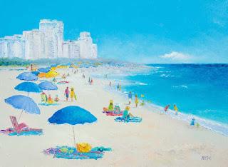 Jan Matson Etsy Art Miami Beach Florida A Beach Painting With - Painting miami