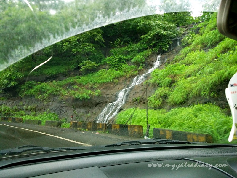 Waterfall on the Trimbakeshwar -Ghoti road near Nashik, Maharashtra