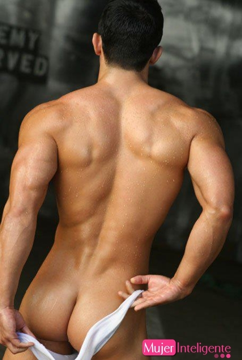 black and white naked mans ass