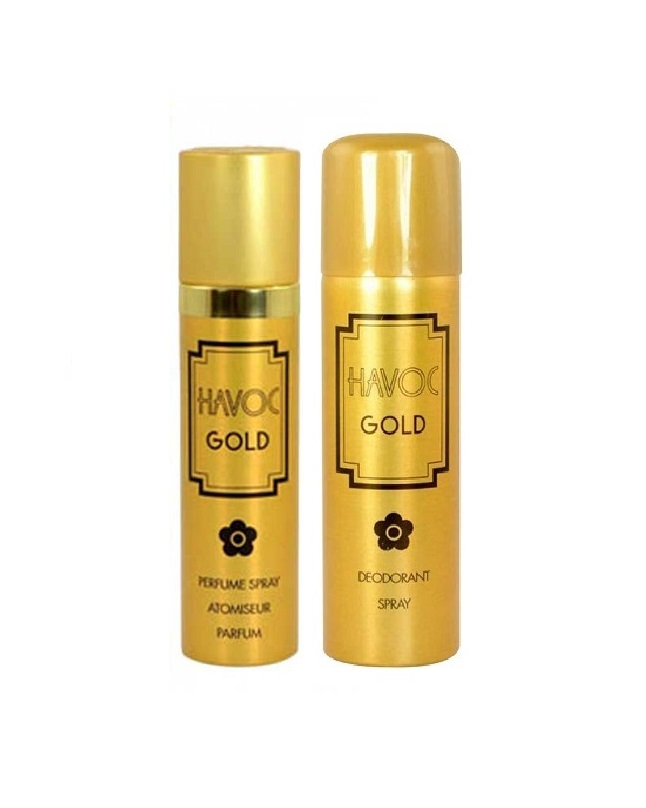 Pack Of 2 - Havoc Gold Body Spray And Perfume 275 ml