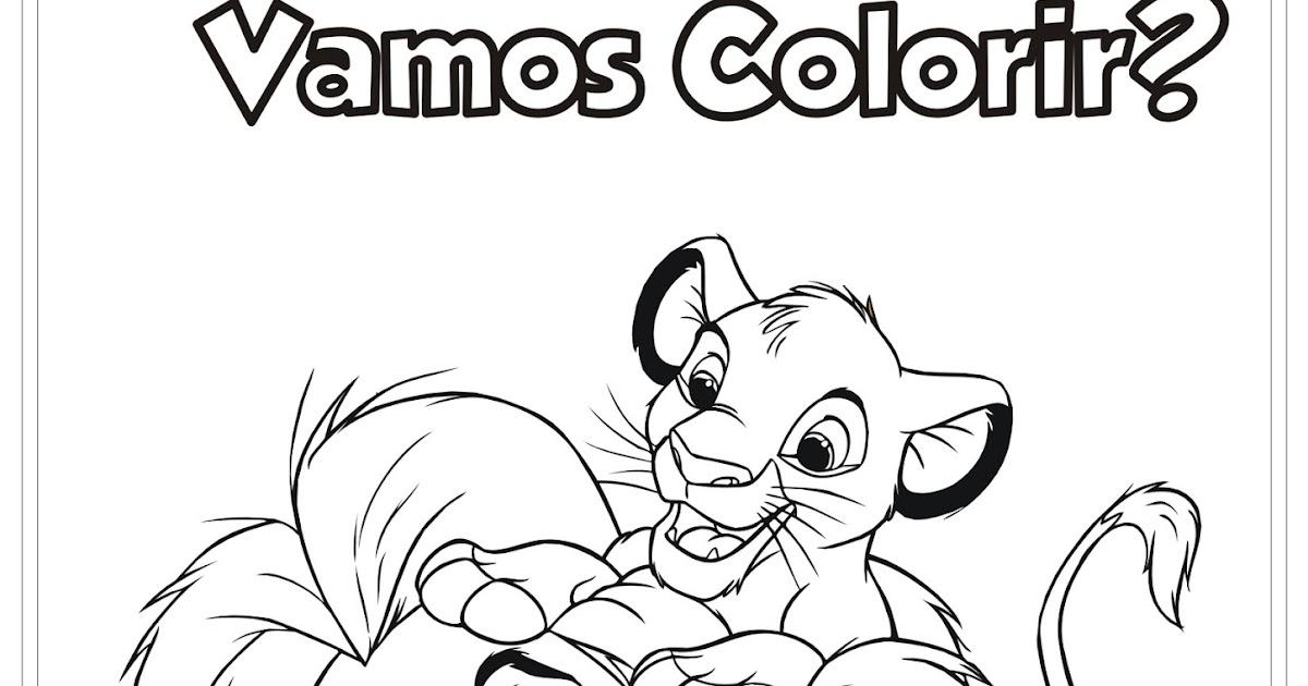 Desenho Do Rei Leão E Simba Para Colorir