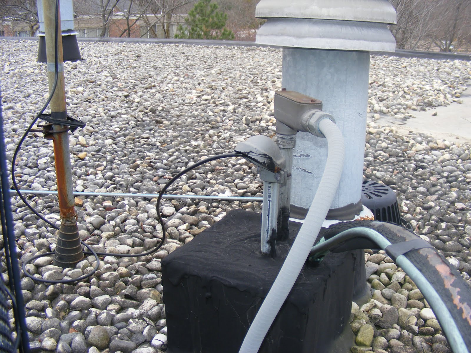 Roofer S View Water Down The Electrical Conduit And On