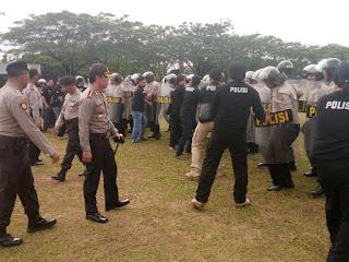 Polres OKI Gelar Pelatihan Pengamanan Pilkada
