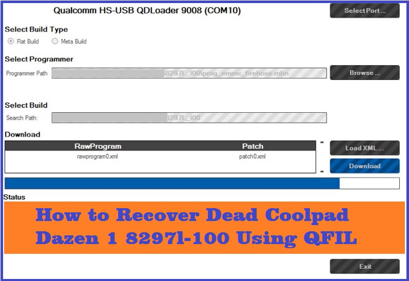 How to Recover Dead Coolpad 8297l-I00 Using QFIL Flash Tool - Free