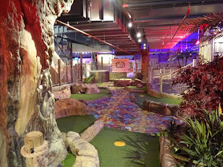 The Lost Valley Adventure Golf course at the Market Place in Bolton