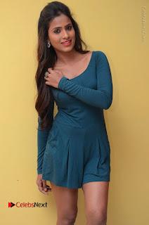 Telugu Actress Prasanthi Stills in Green Short Dress at Swachh Hyderabad Cricket Press Meet  0039.JPG