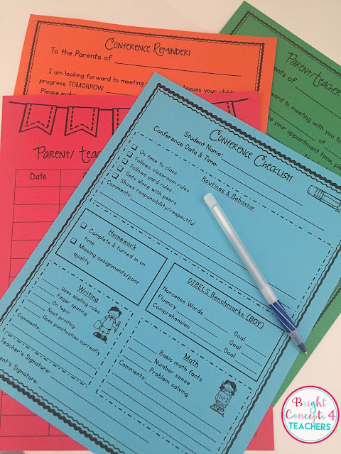 I love to use these editable parent teacher conference forms to help make conference run smoothly.