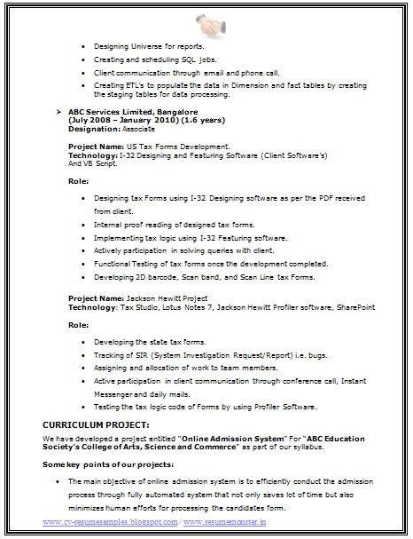 resume format doc for computer hardware and networking engineer