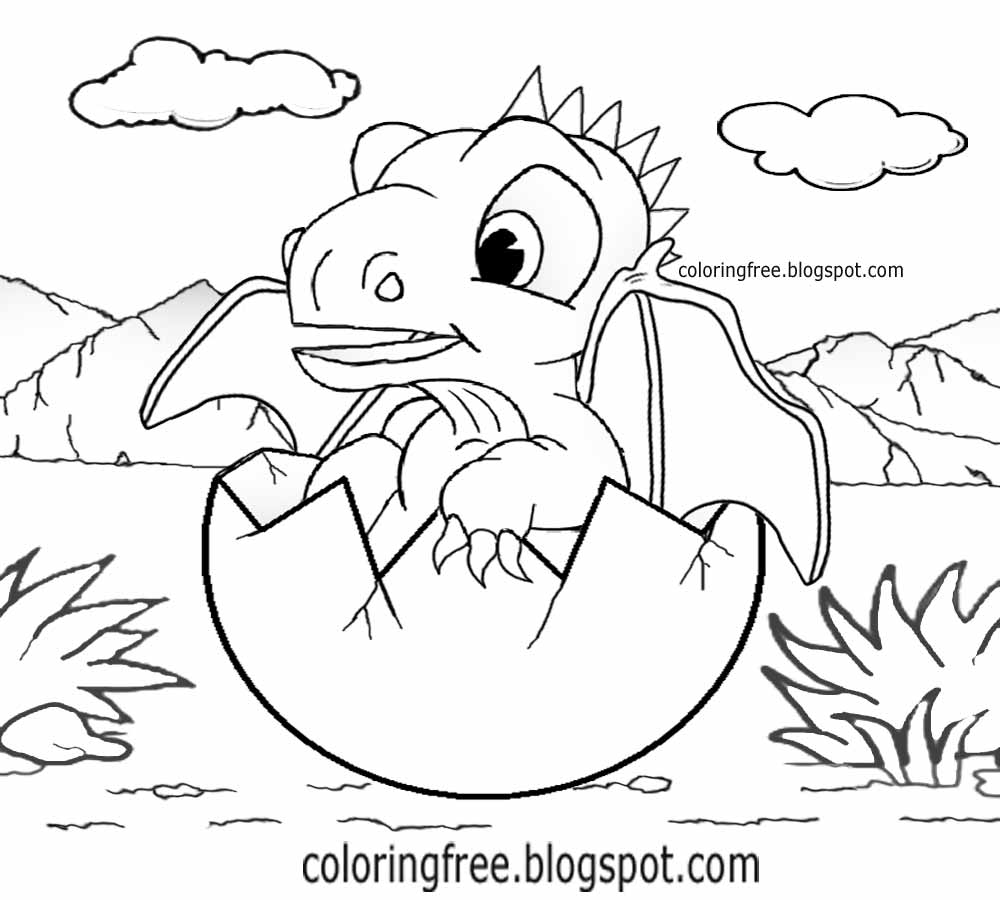Printable Dragon Coloring For Kids Fantasy Pictures Drawing Ideas