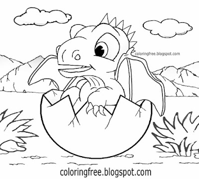 Sweet dragons egg cute baby dragon coloring for young kids fantasy world pictures easy drawing ideas