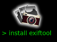 How to install exiftool