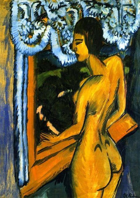 Ernst Ludwig Kirchner, Brauner Akt am Fenster