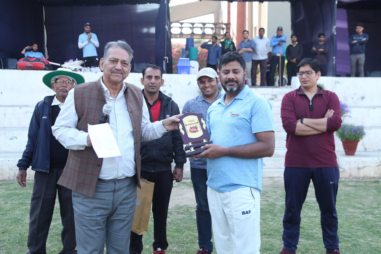 मानव रचना 12 वीं कॉर्पोरेट क्रिकेट चैलेंज : आजतक टीम के विक्रांत गुप्ता ने बनाया शतक बने मैन ऑफ द मैच के हीरो